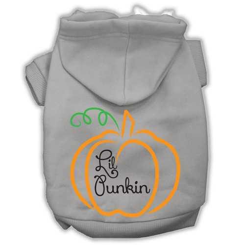 Lil Punkin Screenprint Hoodie Grey L (14)