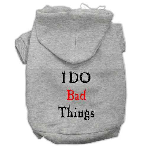 I Do Bad Things Screen Print Pet Hoodies Grey L (14)