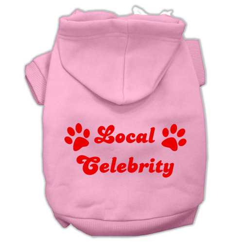 Local Celebrity Screen Print Pet Hoodies Pink Size XL (16)