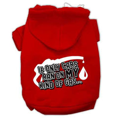 My Kind of Gas Screen Print Pet Hoodies Red Size L (14)