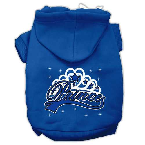 I'm a Prince Screen Print Pet Hoodies Blue Size Lg (14)