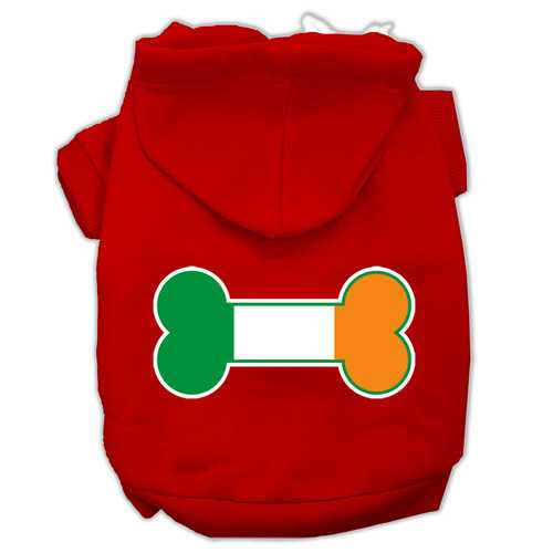 Bone Flag Ireland Screen Print Pet Hoodies Red Size Sm (10)