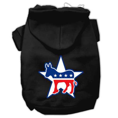 Democrat Screen Print Pet Hoodies Black Size Lg (14)