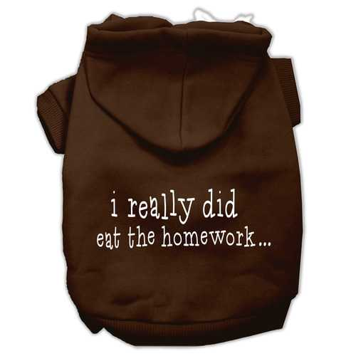 I really did eat the Homework Screen Print Pet Hoodies Brown Size XXXL(20)