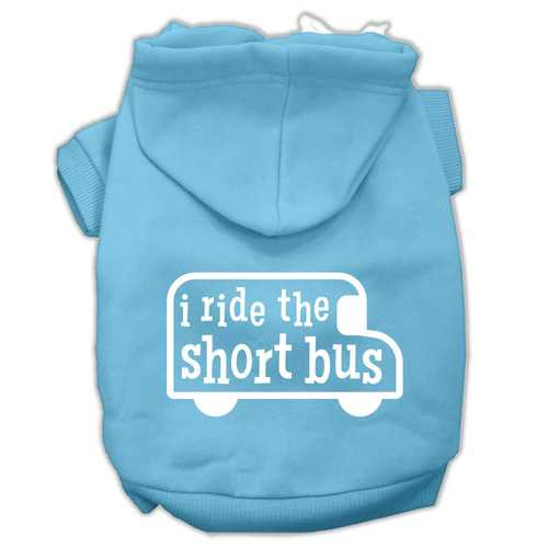 I ride the short bus Screen Print Pet Hoodies Baby Blue Size XXXL(20)