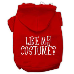 Like my costume? Screen Print Pet Hoodies Red Size XXXL(20)