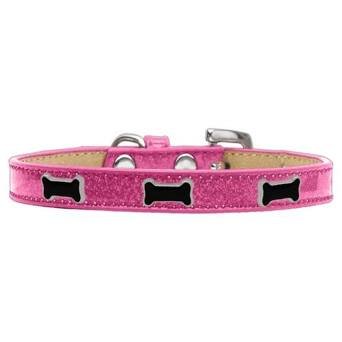 Black Bone Widget Dog Collar Pink Ice Cream Size 20