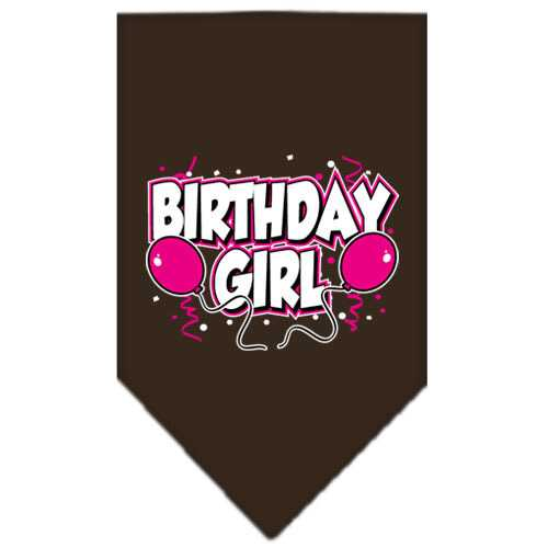 Birthday Girl Screen Print Bandana Cocoa Large