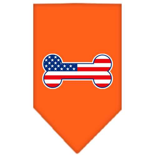 Bone Flag American Screen Print Bandana Orange Small