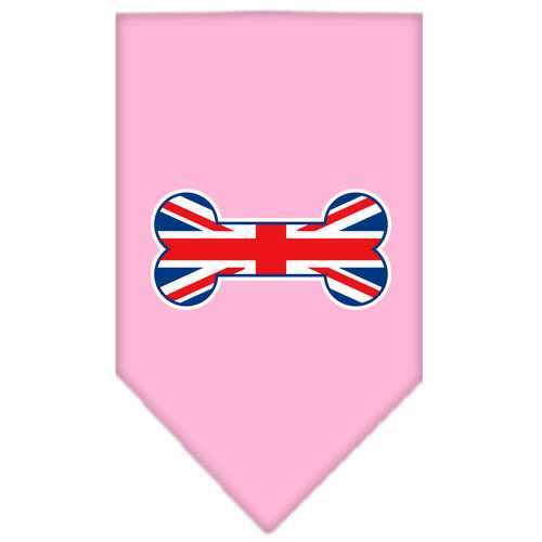 Bone Flag UK  Screen Print Bandana Light Pink Small