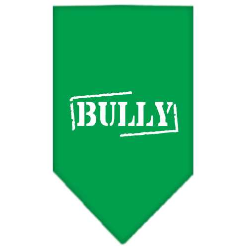 Bully Screen Print Bandana Emerald Green Large