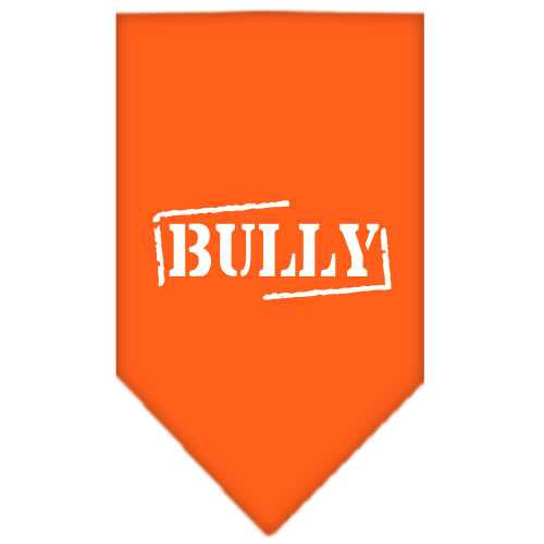 Bully Screen Print Bandana Orange Small