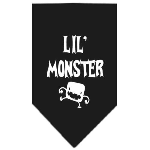 Lil Monster  Screen Print Bandana Black Large