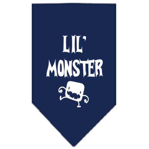 Lil Monster  Screen Print Bandana Navy Blue Small