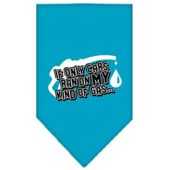 My Kind Of Gas Screen Print Bandana Turquoise Small