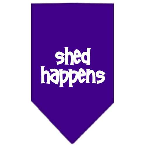 Shed Happens  Screen Print Bandana Purple Large