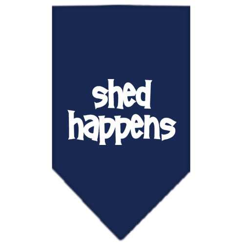 Shed Happens  Screen Print Bandana Navy Blue Small