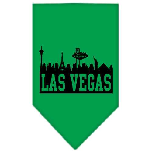Las Vegas Skyline Screen Print Bandana Emerald Green Small