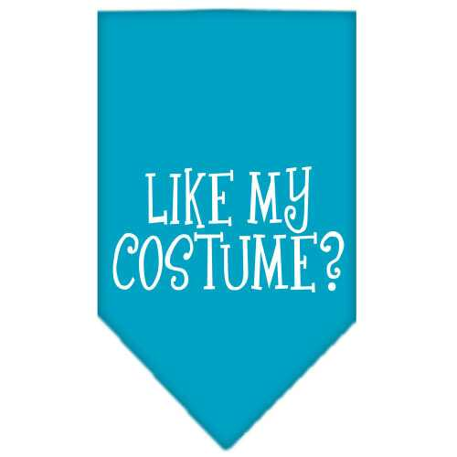 Like my costume? Screen Print Bandana Turquoise Large