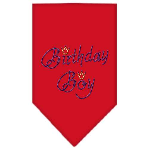 Birthday Boy Rhinestone Bandana Red Large