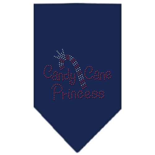 Candy Cane Princess Rhinestone Bandana Navy Blue large