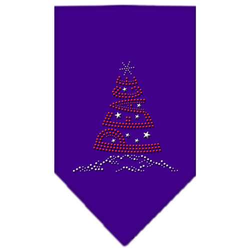 Peace Tree Rhinestone Bandana Purple Small