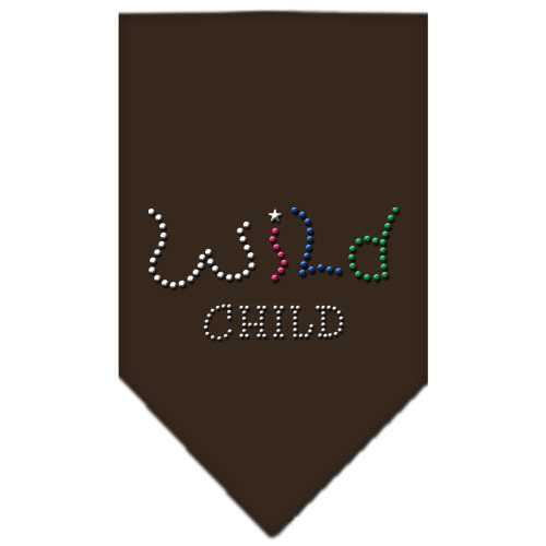 Wild Child Rhinestone Bandana Cocoa Large