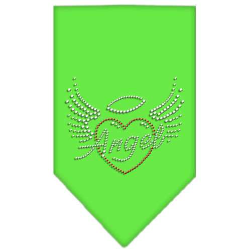 Angel Heart Rhinestone Bandana Lime Green Small