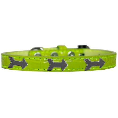 Arrows Widget Croc Dog Collar Lime Green Size 14