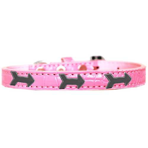 Arrows Widget Croc Dog Collar Light Pink Size 14