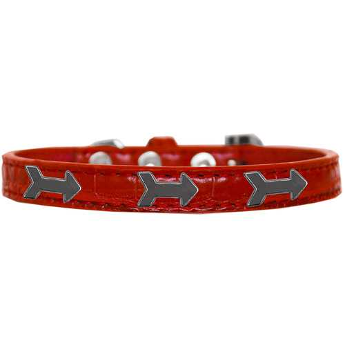 Arrows Widget Croc Dog Collar Red Size 18