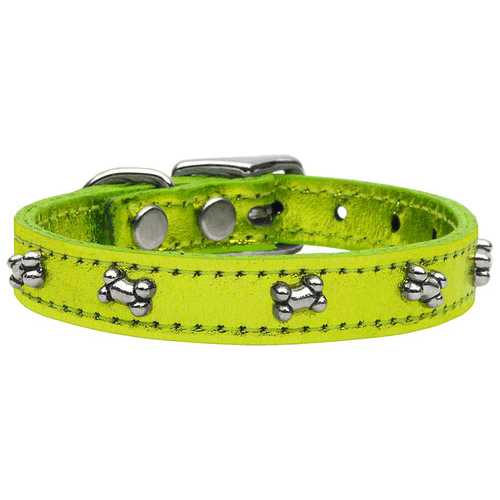 Metallic Bone Leather  Lime Green MTL 18