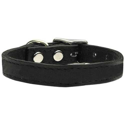 Plain Leather Collars Black 10
