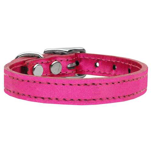 Plain Metallic Leather Metallic Pink 26