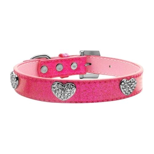 Crystal Heart Ice Cream Collar Pink Medium