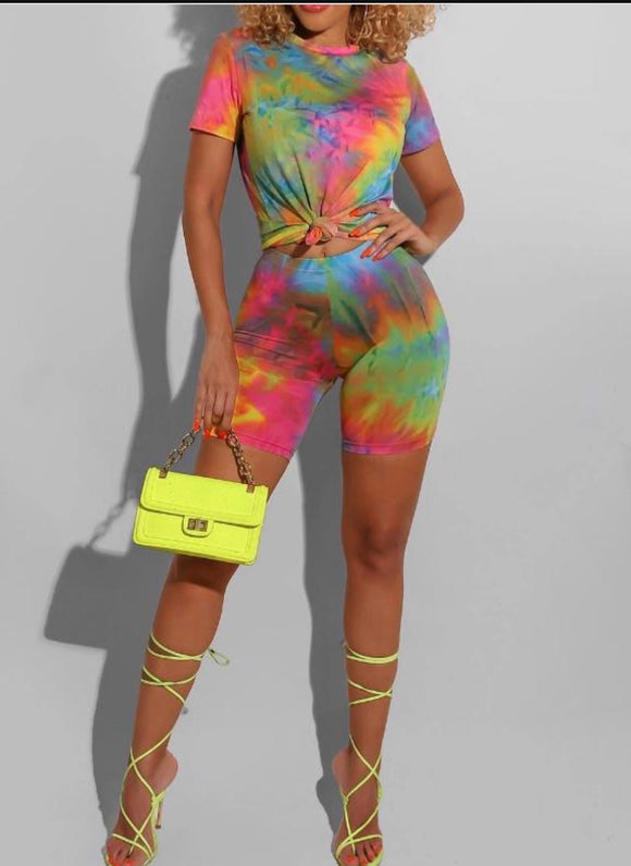 Rainbow TieDye Chill Set