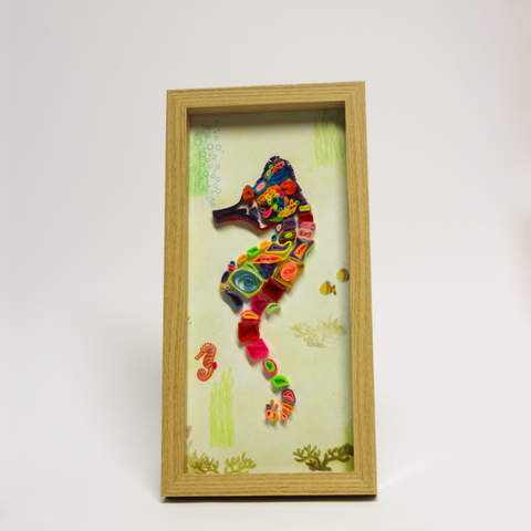 Quilled Seahorse Frame