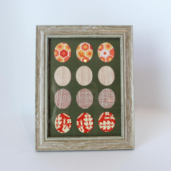 Material 'Eggs' Mixed Media Frames