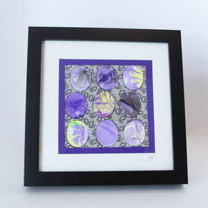Marbled 'Eggs' Mixed Media Frame