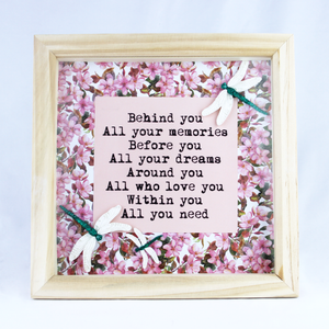 Dragonfly Quote Frame