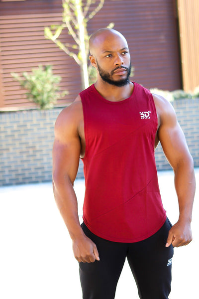 MEN'S V2 SLEEVELESS TOP BURGUNDY