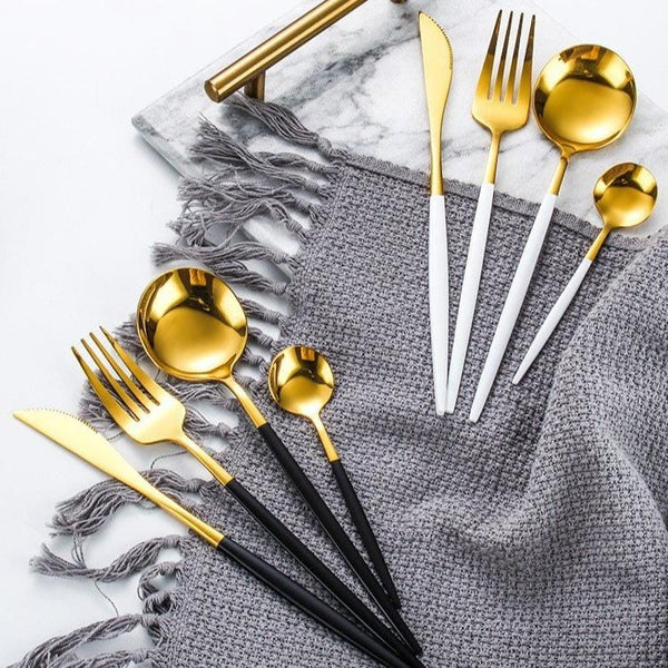 Modernist Stainless Cutlery Set
