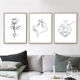 Paramour Line Art Canvas Collection