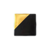 Metallic Gold and Black Coaster