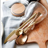 Rose-Gold/Black Stainless Steel Cutlery