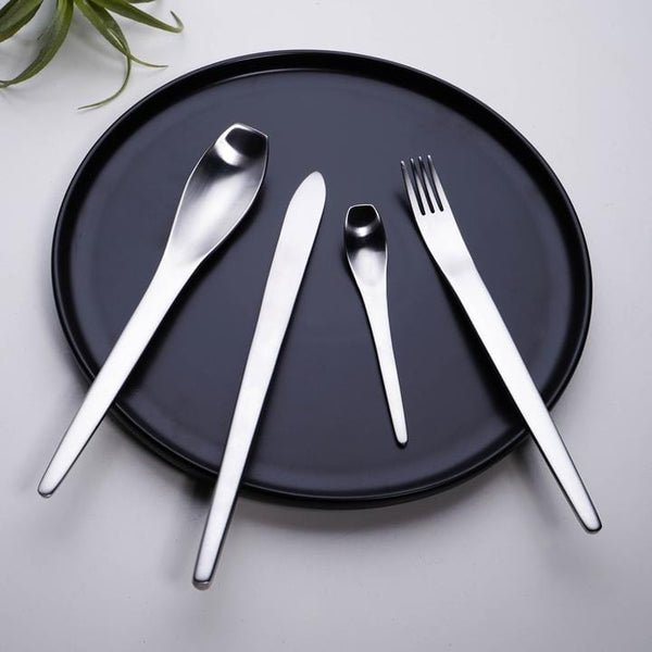 Silver Stainless-Steel Cutlery Set
