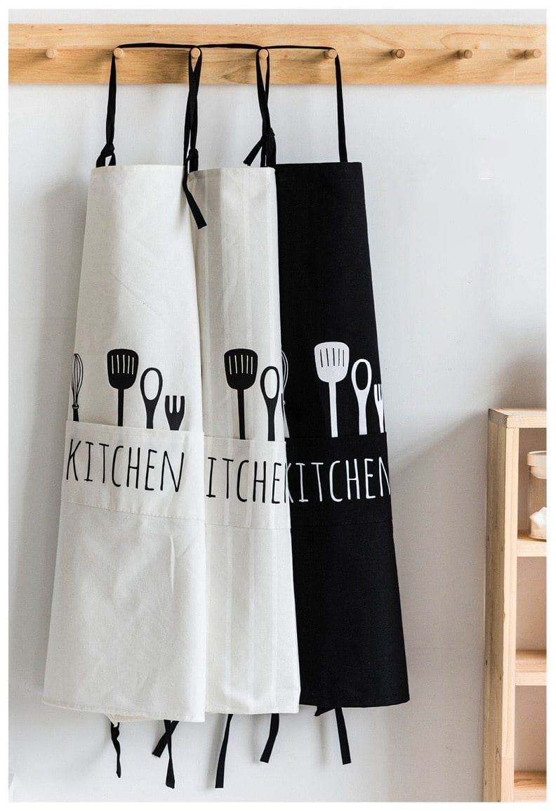 Modern Kitchen Apron with Pockets