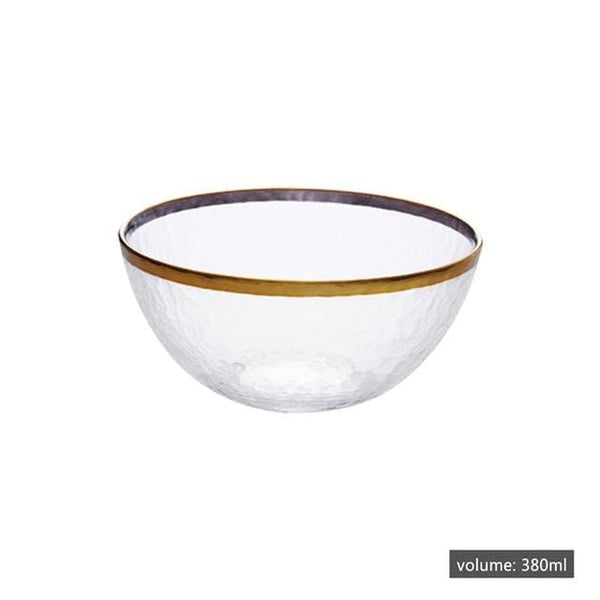 Gold-Rimmed Salad Bowl