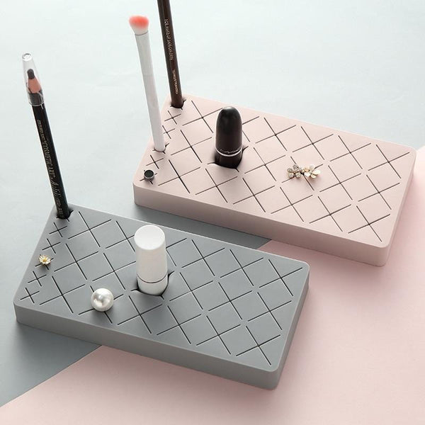 24-Grid Silicone Makeup Organizer
