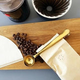 Coffee Scoop with Sealing Clip